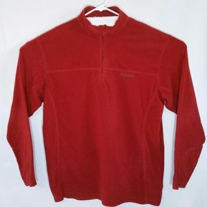 Columbia Fleece Pullover 1/4 Zip Burnt Orange EUC